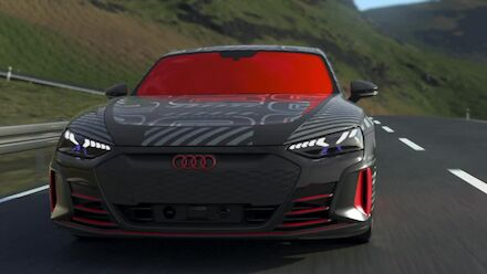 Animation: Audi e-tron GT prototype - Three-chamber air suspension and all-wheel steering