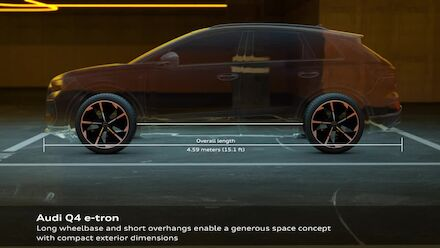 Animation: Audi Q4 e-tron - Interior and package