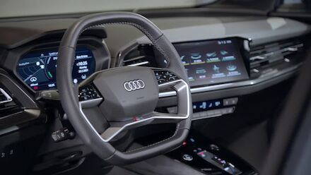 Footage: the interior of the Audi Q4 e-tron